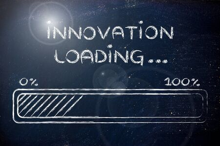 progress bar, funny design with concept of innovation loading photo