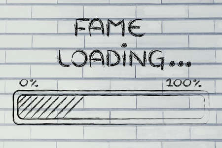 progress bar, funny design with concept of fame loading photo
