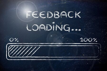 progress bar, funny design with concept of feedback loading photo