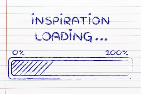 progress bar, funny design with concept of inspiration loading photo