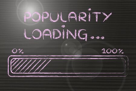 popularity: progress bar, funny design with concept of popularity loading