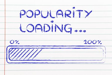 progress bar, funny design with concept of popularity loading photo