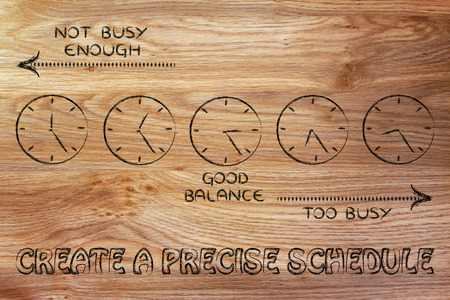 enough: scheduling with precision: find a good balance between too busy and not enough