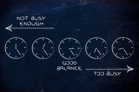 scheduling: scheduling: find a good balance between too busy and not enough