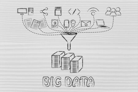 transfers: concept of big data processing and transfers: users, devices and file storage