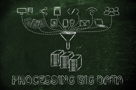 transfers: concept of big data processing and cloud computing: users, devices and file transfers