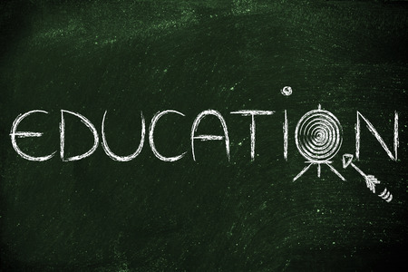 master degree: hit your targets in life, concept of success through education