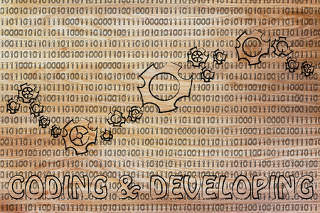 information extraction: coding & developing: gearwheels metaphorically setting up a binary code