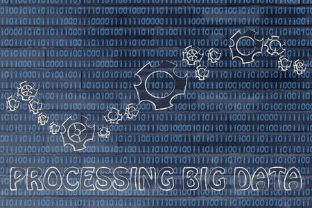 information extraction: processing big data: gearwheels metaphorically setting up a binary code