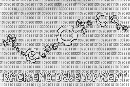 information extraction: back-end development: gearwheels metaphorically setting up a binary code