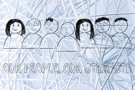 relations publiques: la communication d'entreprise et relations publiques: nos gens, notre message de force Banque d'images
