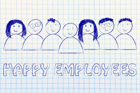 capital humano: mano de obra y el capital humano: los empleados felices