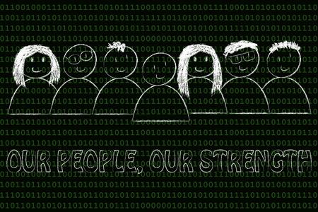 relaciones p�blicas: la comunicaci�n empresarial y relaciones p�blicas: nuestra gente, nuestra fuerza mensaje