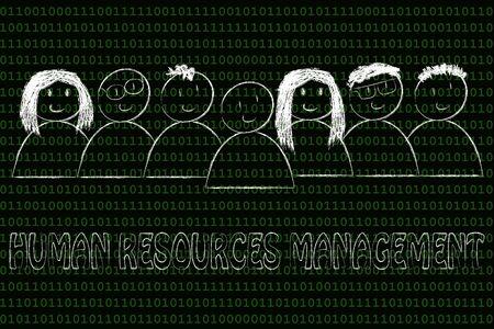 capital humano: mano de obra y el capital humano: gesti�n de recursos humanos Foto de archivo