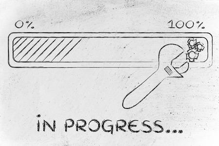 troubleshooting: la solución de problemas en curso: barra de progreso y los parámetros de la llave de ajuste