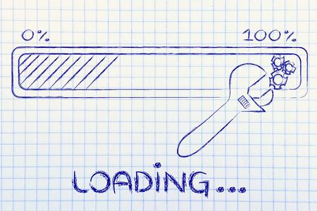 solucion de problemas: par�metros de transferencia barra de progreso y una llave de soluci�n de problemas: datos de carga
