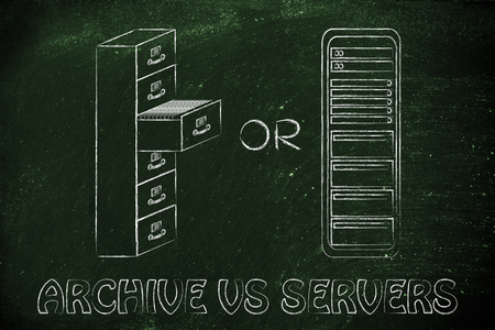 bureacracy: conceptual design of security of data stored in traditional paper archives or servers