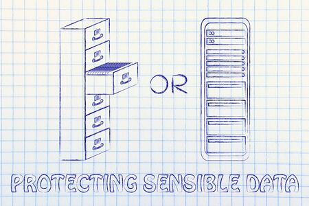 protecting sensible data: traditional paper archives or servers