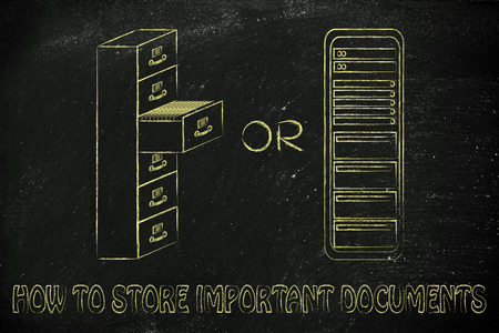 archives: how to store important documents: traditional paper archives or servers