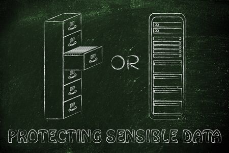 bureacracy: protecting sensible data: traditional paper archives or servers