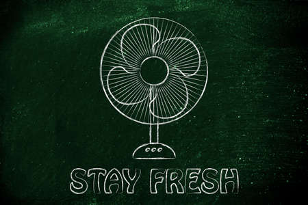 heat wave: stay fresh: funny electric fan design about refreshing during the summer heat wave