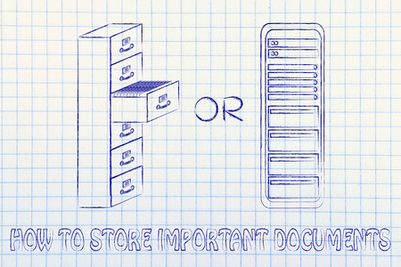 bureacracy: how to store important documents: traditional paper archives or servers