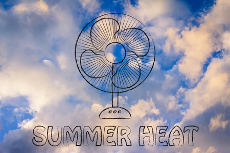 electric fan: summer heat: keep cool electric fan design