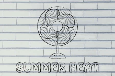 keep: summer heat: keep cool electric fan design