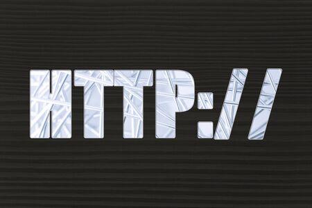 nakładki: HTTP with metallic net overlay Zdjęcie Seryjne