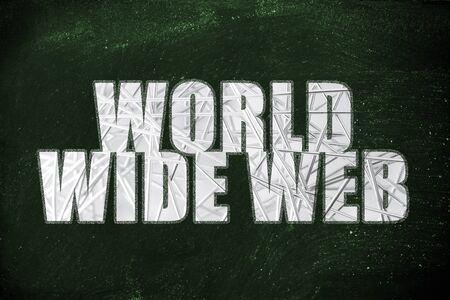 nakładki: Słowo World Wide Web z metalicznym nakładki netto Zdjęcie Seryjne