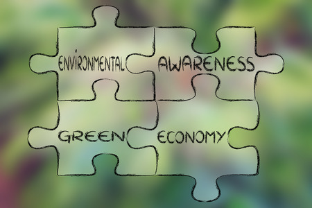 social behaviour: elements of ecology as pieces of puzzle: environment awareness and green economy