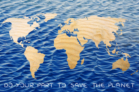 desertification: save the planet against desertification: world with sand instead of forests