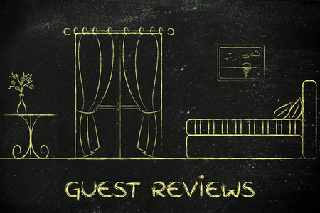 hotel reviews: hotel guest reviews, illustration of room interior