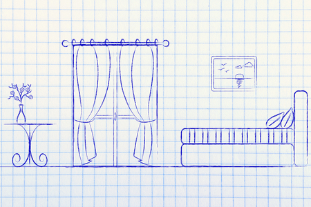 hotel reviews: hotel comparison and guest reviews; illustration with room details