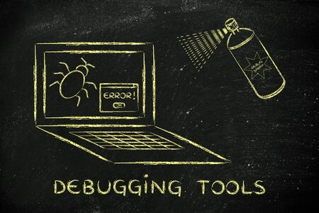 debugging: debugging tools: getting rid of computer bugs with a funny spray