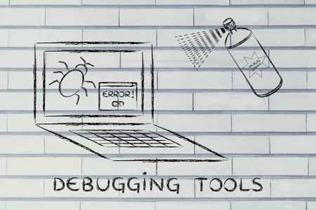 debug: debugging tools: getting rid of computer bugs with a funny spray