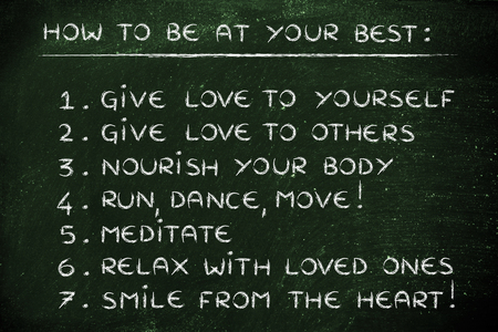 inspiration and motivation to be at your best: step by step list of resolutions Banque d'images