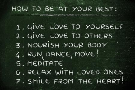 inspiration et de motivation pour être à votre meilleur: étape par étape de la liste de résolutions