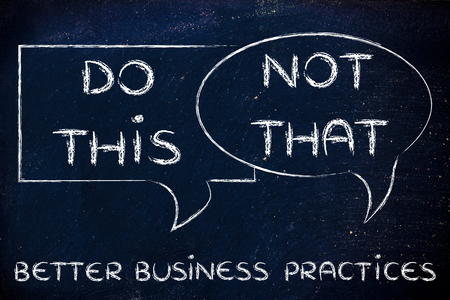 shopping questions: tips about better business practices: do this, not that,