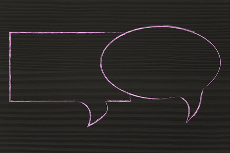 talk bubble: empty comic bubbles to add your text, conversation style