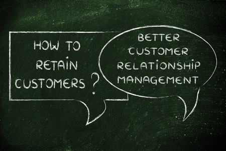 retain: question and answer: how to retain customer? better crm