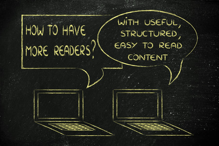 useful: computer conversation about blogging advice: useful readable content