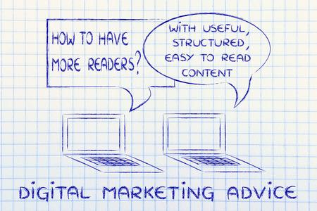 structured: consejos de marketing digital: crear �til estructurado, contenido, legible