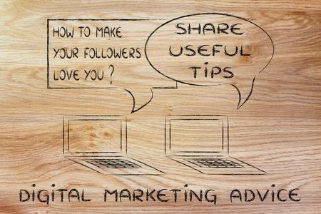 useful: digital marketing tips: share something useful