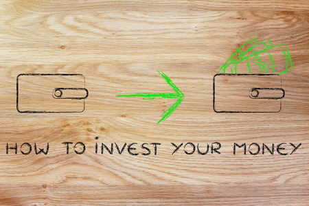 how to: how to invest your money: closed wallet going from empty to full