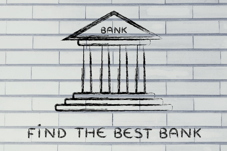 bankkonto: concept of choosing the best bank account for your needs