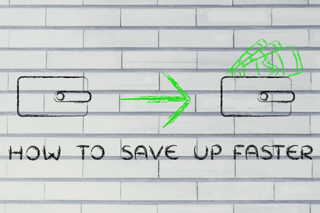 faster: how to save up faster: closed wallet going from empty to full