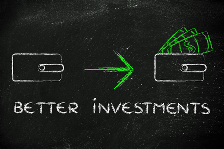 saving tips: how to make better investments: closed wallet going from empty to full