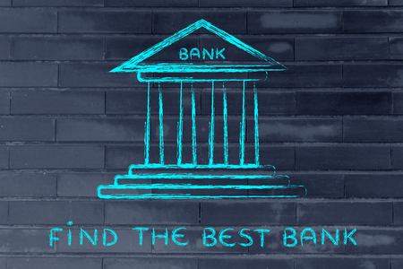 cuenta bancaria: concept of choosing the best bank account for your needs