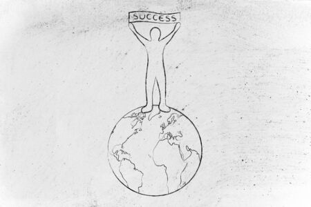 Man Holding The World Drawing